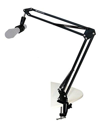 TIE Studio Professioneller Mikrofon Arm Ständer inkl. Halter auf Schreibtisch für Studio/Programm-Aufnahme/Rundfunk/Fernsehsender