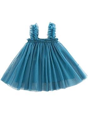 Mädchen Kleider Dasongff Baby Mädchen Sweet Prinzessin Kleid Einfarbig Strap Kleider Backless Festzug Partykleid...