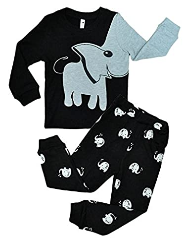 Tkria Enfants Garçons Ensembles de pyjama Mignonne Dinosaur,1-7 Ans (2-3 Ans, Black)
