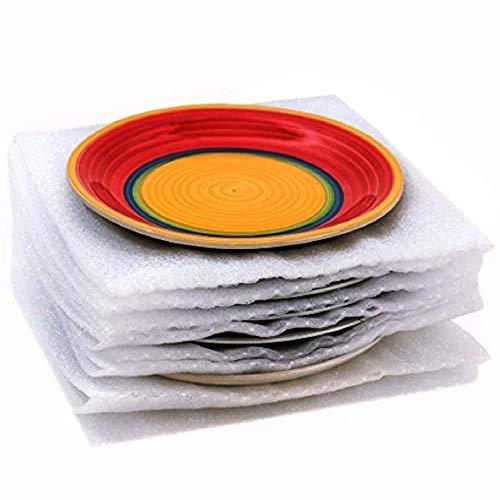 Westlake Art Kissen-Schaumstofffolie, 30,5 x 30,5 cm, schützt Schüsseln, Teller, Gläser, Tassen, Möbelbeine oder Kanten, für alle Zwecke, Aufbewahrung, Umzug (100 Stück) (Negative Protektoren)