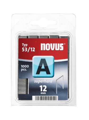 Novus 042-0358 Blister de 1000 Agrafes fines 53/12 Renforcées Rouge