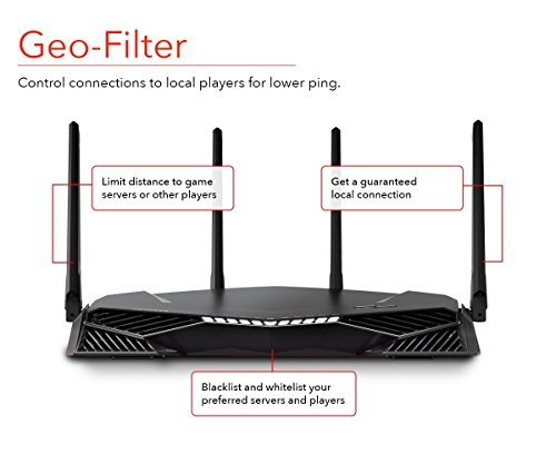 Netgear Xr500 Nighthawk Pro Gaming Wi-fi Router Wireless Speeds Up To 2.6 Gbps
