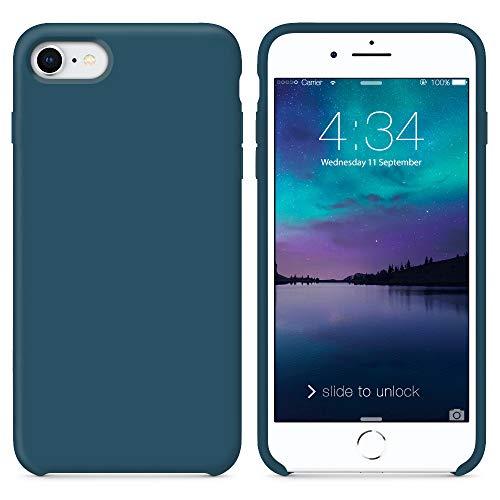 SURPHY iPhone 8 Hülle, iPhone 7 Hülle, Silikon schutzschale vor Stürzen & Stößen Silikon Handyhülle für iPhone 7 iPhone 8 Schutzhülle 4,7 Zoll, Kosmosblau