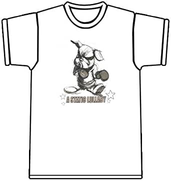 A Static Lullaby Boxing Bunny White T-shirt, Small, White