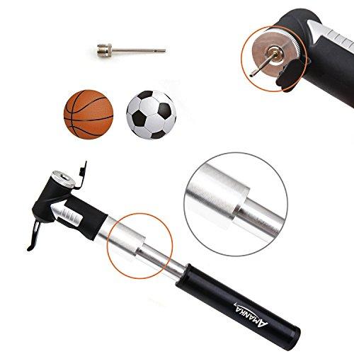 AMANKA Mini Fahrradpumpe 120PSI/8 Bar Teleskopische Luftpumpe Tragbare Rahmenpumpe aus Aluminium mit Halterung, Kompatibel Presta und Schrader für Camping, Biken, Luftballon - 4