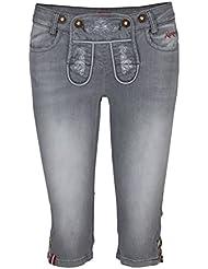 mandling W 'S Capri Jeans, color gris, tamaño 40