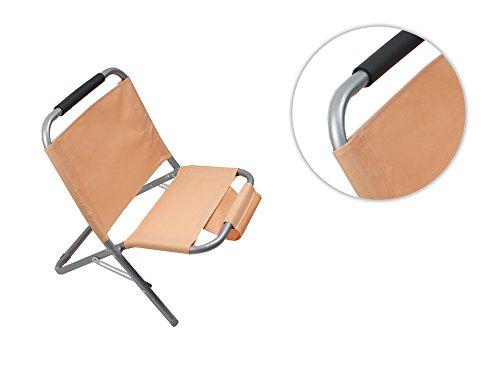 Vetrineinrete® spiaggina con portaoggetti riviste in metallo e tessuto pieghevole sedia sdraio per mare e piscina arancione a40