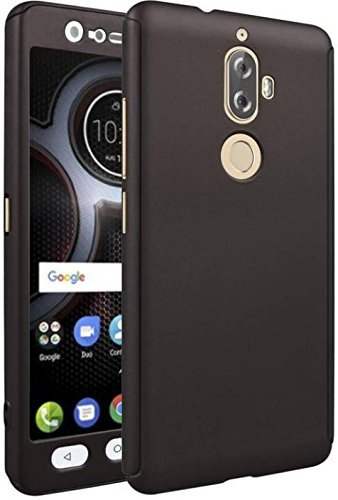 premium selection 064d1 3cc28 mobcruz 360 Degree Full Body Protection Front & Back Case Cover (iPaky  Style) with Tempered Glass for Lenovo K8 Plus - Black