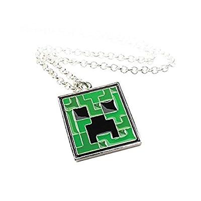 Minecraft Creeper - colgante collar cuadrado videojuegos en caja de regalo diseño