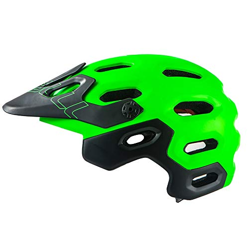 DHGLRHSLDNJ Casco Casco de Bicicleta Am/XC Off-Road All-terrai MTB Cycling Bike Sports Casco de Seguridad Super Mountain Bike Cycling Casco...