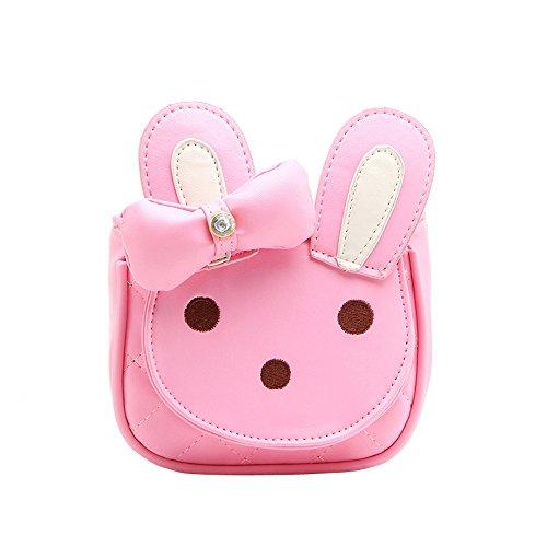 Comfysail Häschen PU Leder Kinder-Tasche Mini Handtasche Kaninchen für 1-3 Jahre Mädchen Rosa