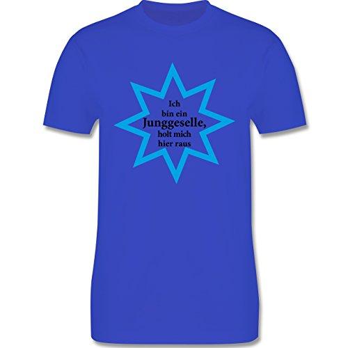 JGA Junggesellenabschied - Junggeselle - Holt mich hier raus - Herren Premium T-Shirt Royalblau