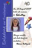 1 Fotokarte Einladung zur Einschulung ES 06 inkl. hochwertigem Umschlag
