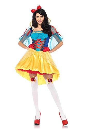 Leg Avenue 85583 2 teilig Set Märchenbuch Schneewittchen, Damen Karneval Kostüm Fasching, M/L, (Italienische Renaissance Kostüme)