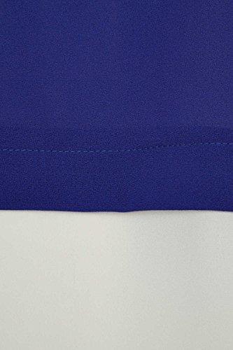 Roman Originals Damen Kontrast Schichten Top lockerer Sitz Alltag Buro Konigsblau Blau