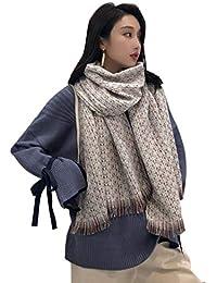 Aswinfon Écharpe Chale Femme Cachemire Chaud Automne Hiver Longue Tissu  Glands Foulard Oversize 200   68cm ce4778387c5