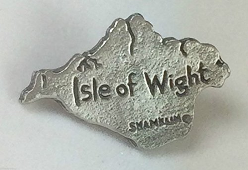 Isle of Wight Outline Map Quality Handmade Pewter Lapel Pin Badge