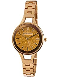 Giordano Analog Gold Dial Women's Watch - C2041-33