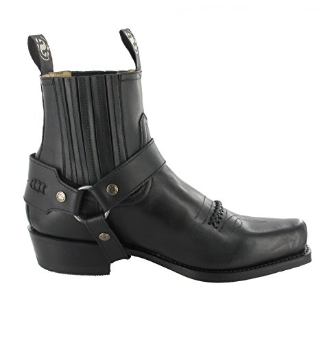 Sendra boots bottes 6445 bikerstiefelette motorradstiefelette Noir