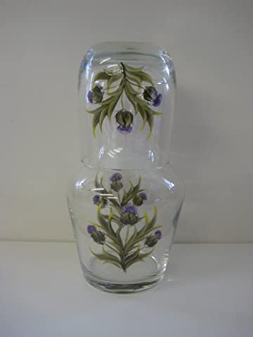 Hand Painted Thistle Design Carafe