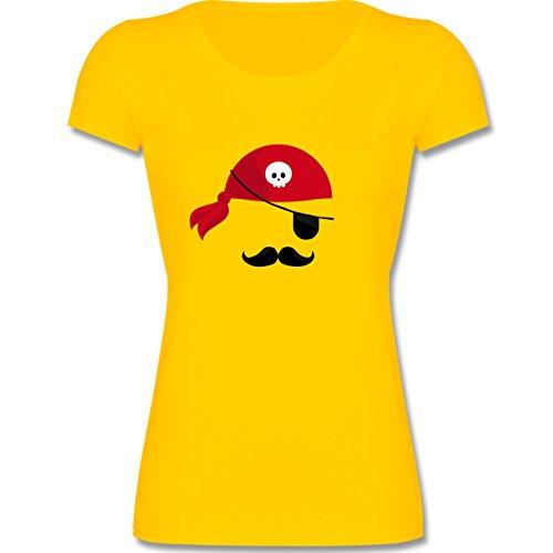 Kinder - Pirat Kostüm - 164 (14-15 Jahre) - Gelb - F288K - Mädchen T-Shirt (Coole Kostüme Für Teenager Mädchen)