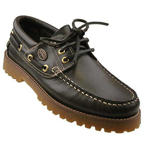 Dockers by Gerli Damen Mokassins Bootsschuhe - Schwarz, Cafe oder REH, Schuhgröße:EUR 39, Farbe:Brauntöne