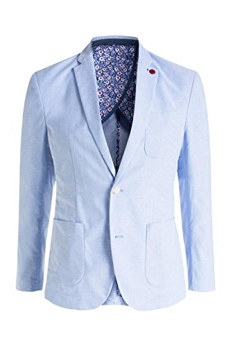 ... ESPRIT Collection Herren Sakko 046eo2g008 - mit Oxford Struktur Blau  (LIGHT BLUE 440) f54d8675a5