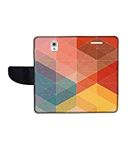 KolorEdge Printed Flip Cover For Samsung Galaxy Note 3 Multicolor - (55KeMLogo11177SamNote3)