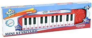 Bontempi Electronic Mini Keyboard - Juguetes Musicales (Juguete Musical, 3 año(s), Niño/niña, Negro, Rojo, Blanco, Italia, Batería)