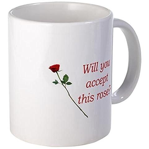 qoiueof akzeptieren Sie diese Rose weiße Tassen–11Unzen