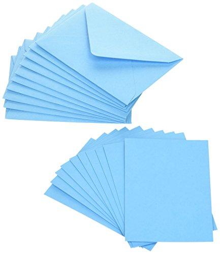 Original Crown Mill Mini Karte mit Umschlag-Arctic Blau (10Stück) -