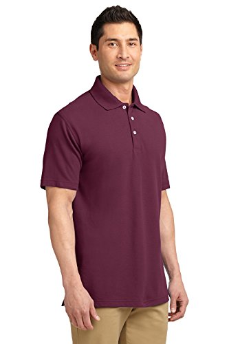Port Authority ezcotton Pique Polo Shirt Rot - Maroon