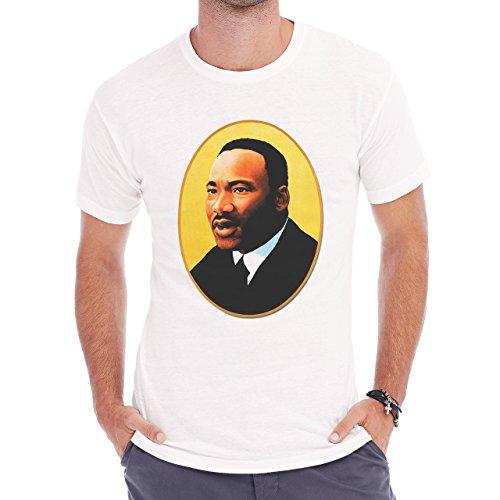 Martin L King Realistic Pic Herren T-Shirt Weiß