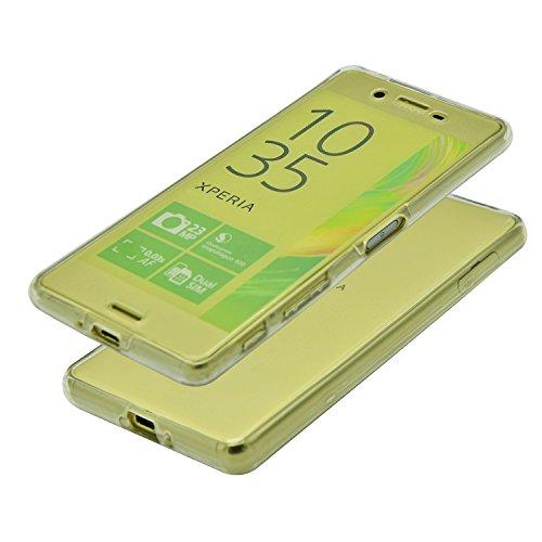 Vandot Sony Xperia M5 Coque de Protection Etui Transparent Antidérapant Pour Sony Xperia M5 Etui Protection Dorsale Étui Slim Invisible Housse Cover Case en TPU Gel Silicone Hull Shell-Blanc Transparent-Blanc