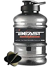 STYLBASE Beast Sports Unbreakable Freezer Safe Gallon Bottle 1.5 L with Mixer Ball and Strainer