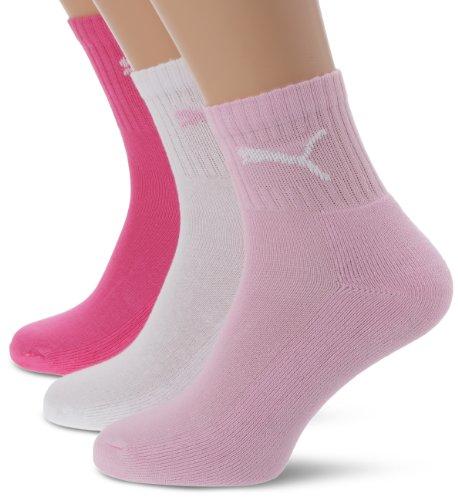 Puma Unisex Socken Short Crew 3er Pack, pink Lady, 39/42, 231011001