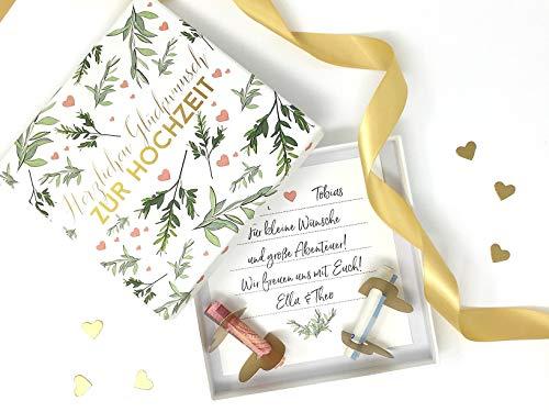 Deingastgeschenk Geldgeschenk Verpackung zur Hochzeit Lasst Liebe wachsen