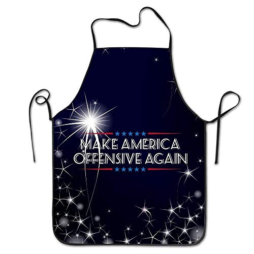 KLYDH Make America Offensive Again Kitchen Cooking BBQ Apron Iron Chef America Set