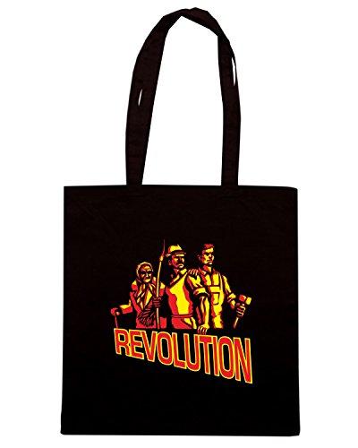 T-Shirtshock - Borsa Shopping T0441 revolution comunismo politica Nero