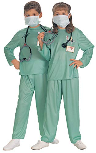 Rubie's Offizielles Unisex-Kostüm E.R Doctor - Größe (Kind E R Arzt Kostüme)