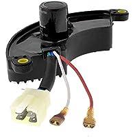 SODIAL(R) 250V AC Gasolina Generador Diesel 3 Fases 6.5KW Regulador AVR Negro