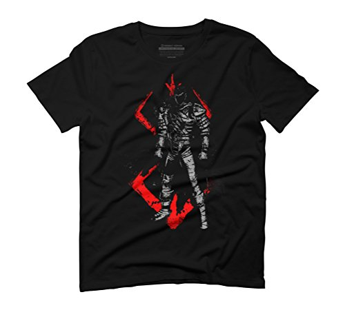 Crimson Guts Men's Graphic T-Shirt - Design By Humans Black