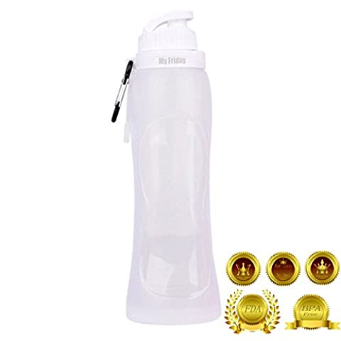 Tigèr 500ml BPA Free Silicone Foldable Sport Water Bottle Reusable For Walking Riding Joggers Picnics Hiking Camping by 17fl - Clean x
