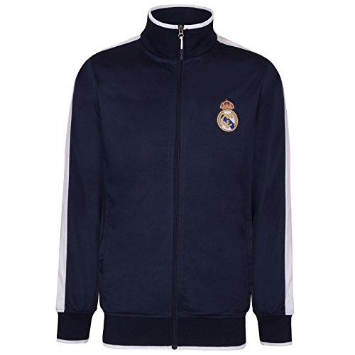 Real Madrid - Herren Trainingsjacke im Retro-Design - Offizielles Merchandise - Geschenk für Fußballfans - M