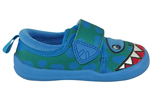Clarks Shilo Rex Fst Boys First Slippers 4 G Blue Synthetic