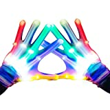 Easony Festa Favori Fantastici Giocattoli Autistici per Ragazzi e Ragazze di 3-12 Anni, LED Guanti Lampeggianti Il Nuovo Compleanno Presenta Regali per Ragazze e Ragazzi di 3-12 Anni
