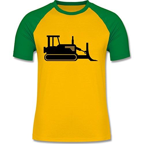 Andere Fahrzeuge - Raupenfahrzeug - zweifarbiges Baseballshirt für Männer Gelb/Grün