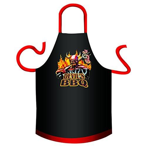 Mega lustiger Scherzartikel Schürze mit Kleiner Schürze Devil s BBQ Geschenkartikel für jeden Anlass Karneval Geschenkidee Spassartikel