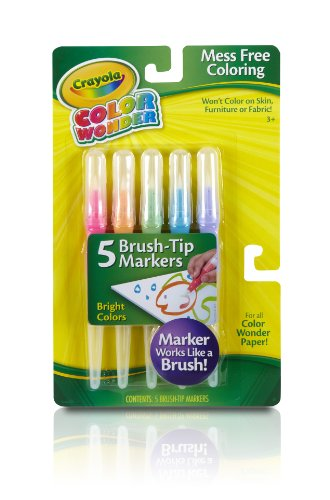 Crayola Bright Color Wonder Brush Tip Markers by Crayola TOY (English Manual)