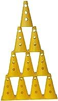 agility sport pour chiens - lot de 10 cônes avec trous, 23 cm, jaune - 10x MZK23y